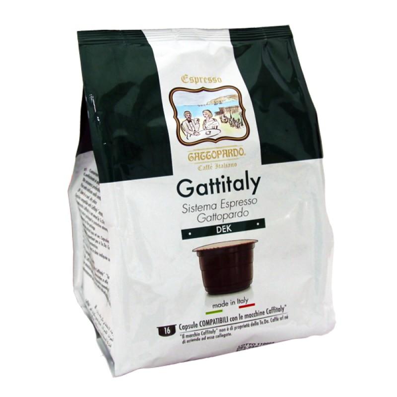 96 capsule Gattopardo DECAFFEINATO Gattitaly To.Da compatibili Caffitaly