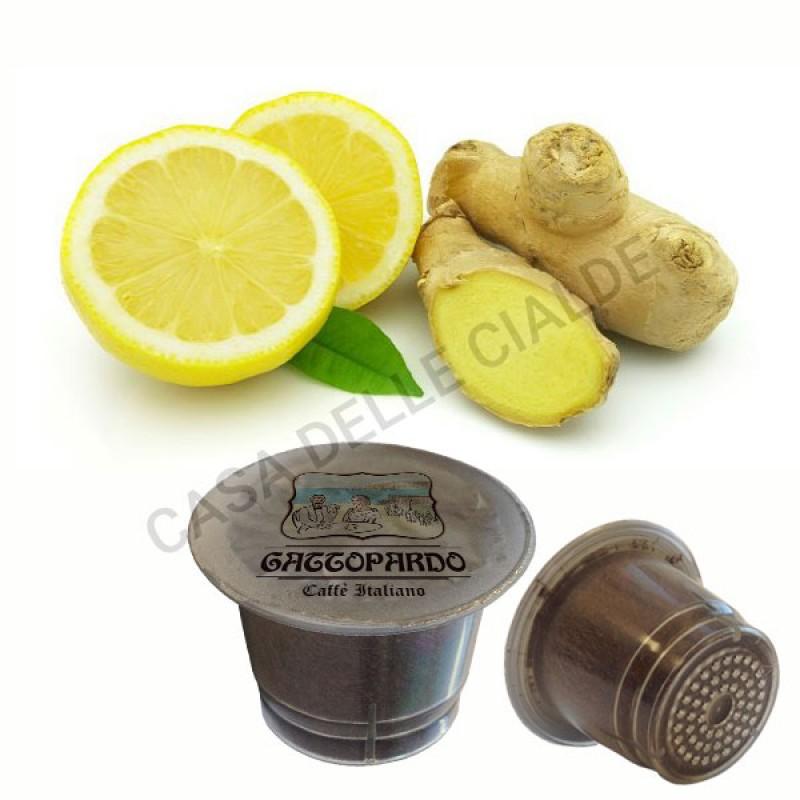 80 capsule Gattopardo Zenzero e Limone compatibili Nespresso