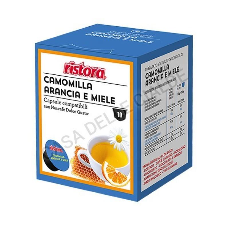 40 capsule Camomilla arancia e miele Ristora compatibile Dolce Gusto