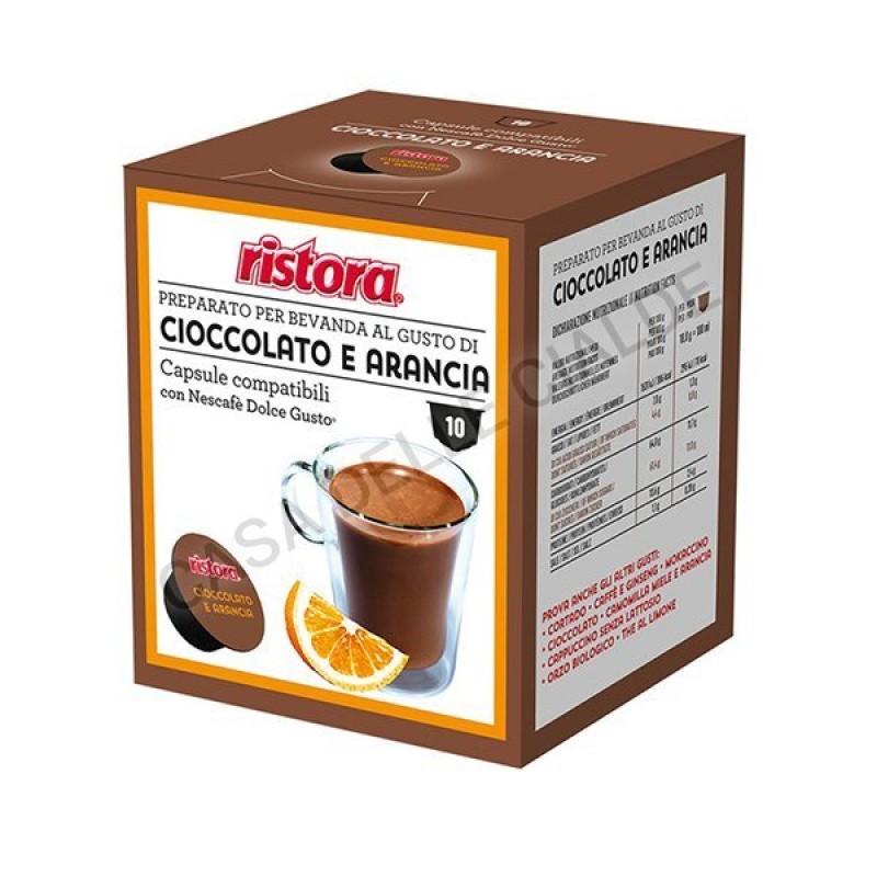 40 capsule Cioccolato e Arancia solubile Ristora compatibile Dolce Gusto