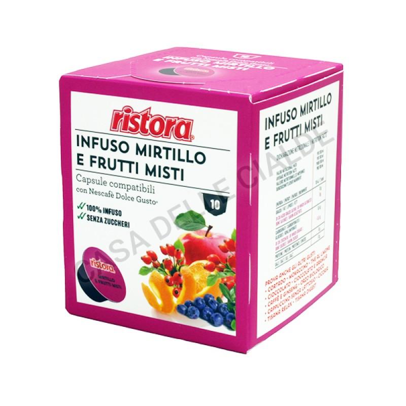 40 capsule Infuso mirtillo e frutti misti Ristora compatibile Dolce Gusto