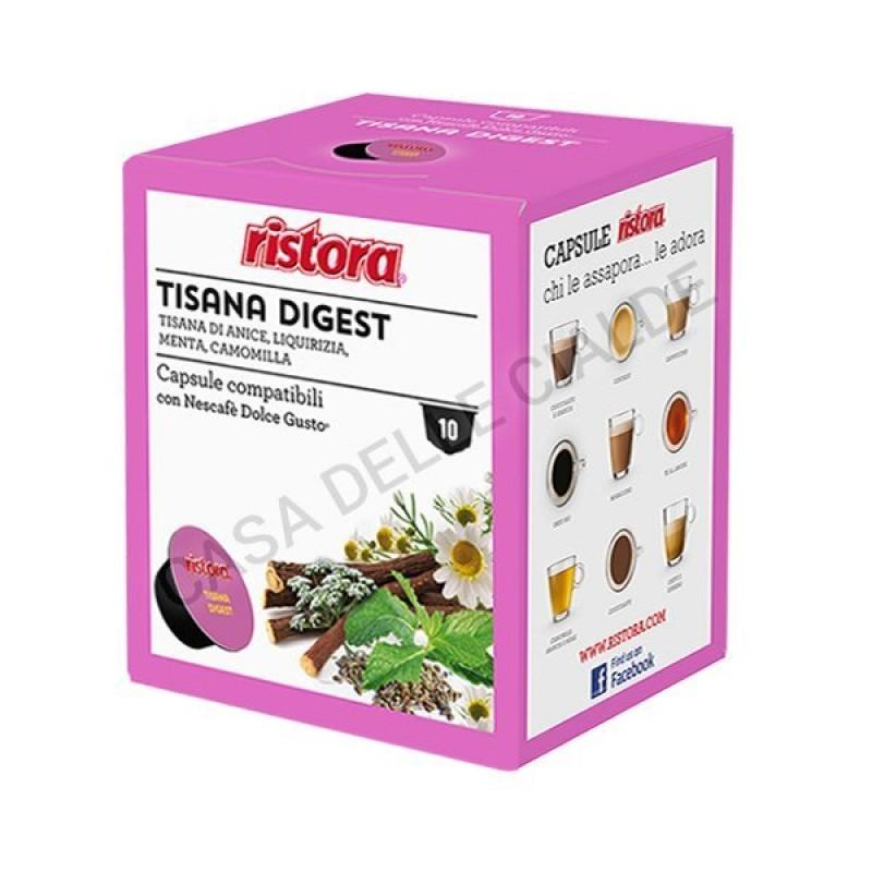 40 capsule Tisana Digest Ristora compatibile Dolce Gusto