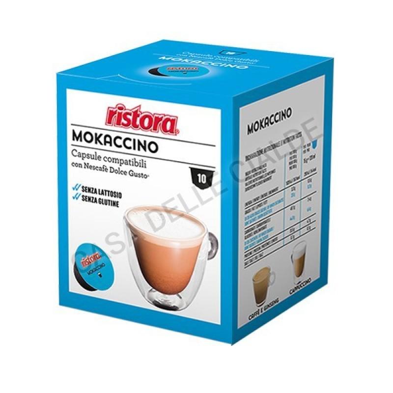 40 capsule Mokaccino Ristora compatibile Dolce Gusto