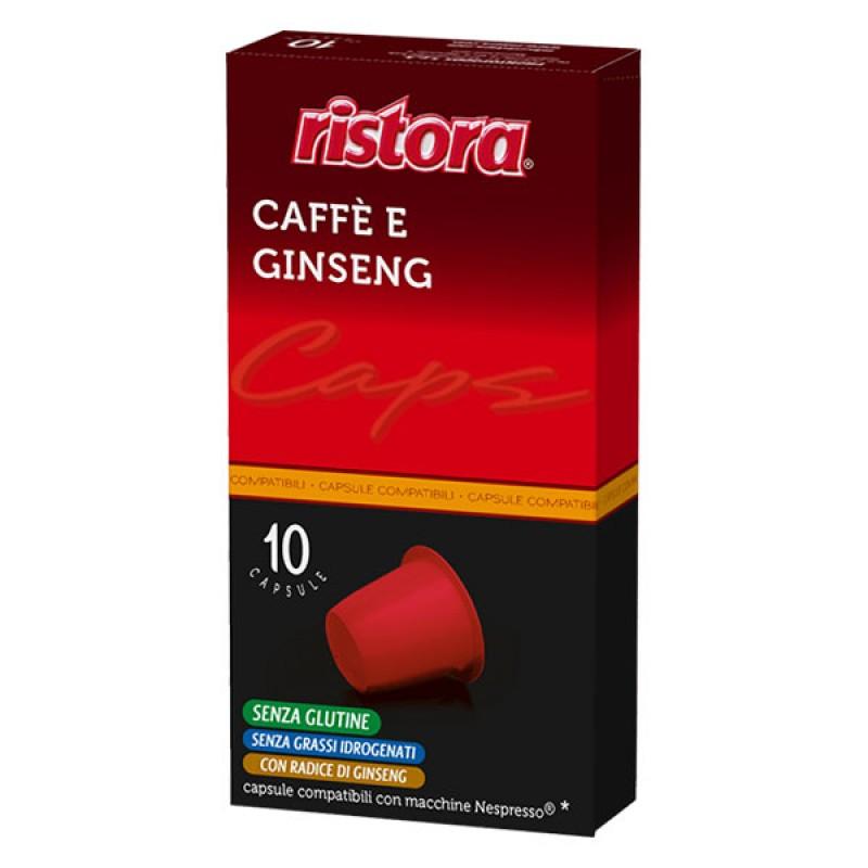 60 capsule Caffè e Ginseng RISTORA compatibili Nespresso